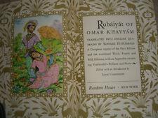 Rubaiyat of Omar Khayyam edited by Louis Untermeyer slipcover 1947