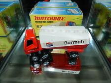 Matchbox Lesney Superfast 63 Freeway Burmah Gas Tanker 1972 England Mint in Box