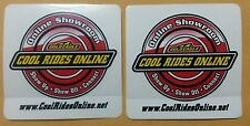 """2 pcs GOLD EAGLE - Cool Rides Online - Racing / Sticker / Decal - 4.00"""" x 4.00"""""""