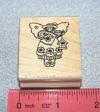 Doll Angel Rubber Stamp Single Garden Country Stitched by Stampin  00004000 Up Angel Minis