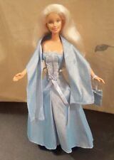 Barbie Doll in Beautiful baby Blue Dress with Bag - Deboxed