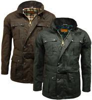 Men's Game Belted Biker Continental Motorcycle Jacket Wax Coat 100% Waxed Cotton
