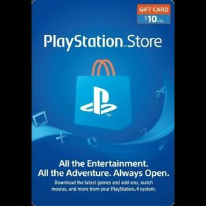 PSN Card 10$ (USD) PlayStation Network USA