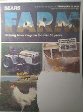 Sears 1990 Craftsman-Farm Catalog FULL COLOR Garden Tractor 64pg Tools Tiller
