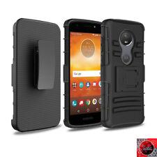 For Straight Talk Motorola moto e5 (XT1920DL) Holster Belt Clip Cover Case Black