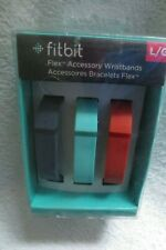 Fitbit Flex Accessory Wristband Replacement Band  3 Bands Set Large Orange New