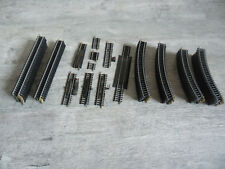 LOT 66 rails droits courbes R 385mm deteleur extensible JOUEF HO 1/87 lot2