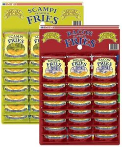 Smiths Scampi & Bacon Fries Mixed Snacks (48 Pack) Pub Card Bundle