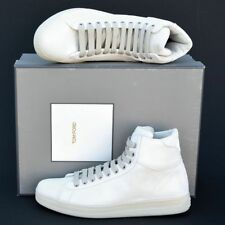 Tom Ford New sz 10.5 Auth Designer Mens High Top Sneakers Shoes natural white