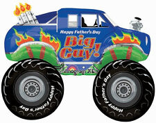 """FATHER'S DAY PARTY SUPPLIES 31"""" MONSTER TRUCK FATHER'S DAY BIG GUY FOIL BALLOON"""