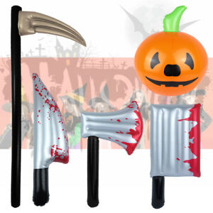 Halloween Inflatable Horror Blood Stained Bloody Weapon Blow Up Dress up costume