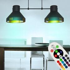 RGB LED Cubrir Péndulo Luz Regulable Mando Lámpara Colgante Altura Ajustable