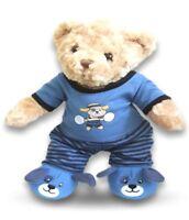 Teddy Bear Clothes fits Build a Bear Teddies Blue Puppy PJ's Pyjamas & Slippers