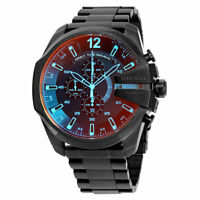 NEW DIESEL DZ4318 NEW Mega Chief Black Ion plated Stainless Steel Men's Watch