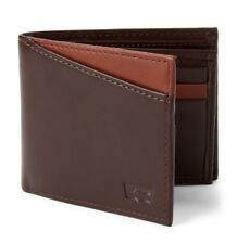 Levi's Men's Genuine Leather Connor RFID Blocking Slimfold Wallet -Brown