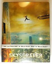 Skyscraper 4K+3D+Blu-ray Region Free (Film Arena) STEELBOOK no disc ever played!