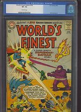 WORLD'S FINEST COMICS #134 CGC VF- 7.5; OW; Green Arrow!