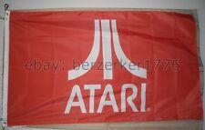 Atari 3'x5' Red Flag Banner Pong Frogger Pac-Man Arcade Video Game - U.S. seller