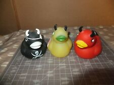 Lot of 3 Accoutrements Ducks Evil Duckie ,Pirate Devil Duckie and Zombie Duck