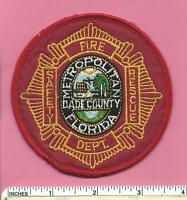 Metropolitan Dade County Fl Fla State Florida Fire Rescue Safety Shoulder Patch