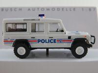 """Busch 50366 Land Rover Defender 110 (1983) """"POLICE (F)"""" in weiß 1:87/H0 NEU/OVP"""