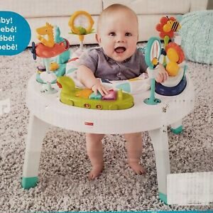 Fisher Price Grow With Me Activity Center Sit-to-Stand Exersaucer Stander Table