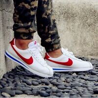 """Nike Iconic """"Forrest Gump"""" Running Shoe Leather RED/WHITE/BLUEWomen's Sz 9"""