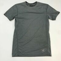 Nike Pro Combat Compression Shirt Men's M Short Sleeve Gray Dri-Fit Polyester