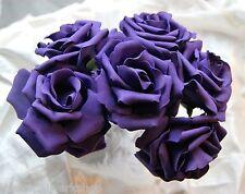 24 Large 9cm Wedding Flowers Foam Open Roses All Colours For Bouquet Buttonholes
