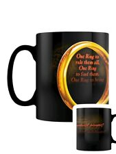 Lord of the Rings LotR Mug for Tea or Coffee One Ring Heat Changing Black