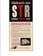 1969 EDELBROCK STREET TUNNEL RAM INDUCTION SYSTEM ~ ORIGINAL PRINT AD