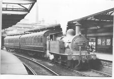 MR Johnson 1P 0-4-4T 58040 Keighley for Oxenhope 1951 repro photo postcard