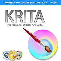 Krita - Professional Digital Art Suite - Paint and Draw with Layers - w/Manual