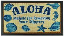 Hawaiian Rug Bath Floor Door Mat Aloha Remove Slippers Hawaii Island Home Decor