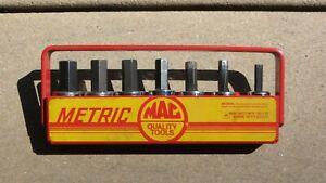 "Vintage Mac Tools Metric 7 pc Hex Allen Socket Driver Set - 3/8"" XDS  XT34Y USA"