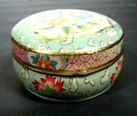 VINTAGE DAHER DECORATED WARE TIN MADE IN ENGLAND FLOWER