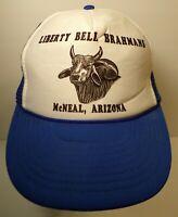 LIBERTY BELL BRAHMAN CATTLE LIVESTOCK SNAPBACK TRUCKER HAT CAP MCNEAL ARIZONA