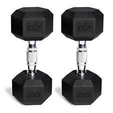 CAP Barbell Rubber-Coated Hex Dumbbells, Set of 2 | 20 Lb Pair 40 Lbs Total New