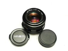 Minolta MD 50mm f1.4 MF -- Late Release -- TESTED! EXCELLENT!