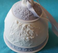 New listing 1993 Lladro Christmas Bell Ornament #16010 Porcelain, Original Box