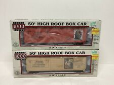 2 Pack Series  50' High Roof Box Cars Norman Rockwell Proto 1000 Series