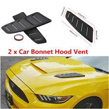 2x Universal Black ABS Plastic Car Air Flow Intake Scoop Bonnet Vent Hood Cover
