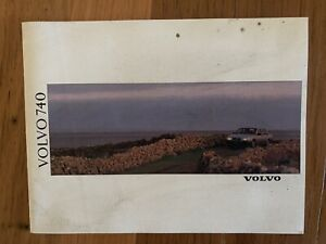 Volvo 740 Sedan Wagon Sales  Brochure Specifications Etc Rare