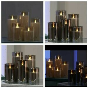 Bundleberry By Amanda Holden Set Of 5 Flameless Candles With Remote New