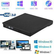 USB3.0 External DVD Burner CD RW Drive Player Disc Rewrite for PC Laptop UKStock