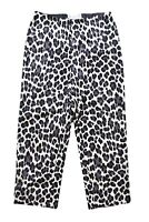 Tempesta Gruppo Americano Womens Pants 2 Black Animal Print Cropped Capri