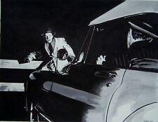 New listing Original art - Caught In The Headlights - 2020 film noir, pulp illustration