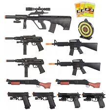 15 PIECE SPRING AIRSOFT GUNS SET RIFLE SHOTGUN PISTOL HANDGUN 6mm BB BBs Bundle