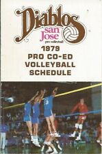 1979 San Jose Diablos International Volleyball Assoc. Pocket Schedule IVA #FWIL