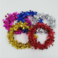7.5m Iron Wire Hanging Star Garland Christmas Tree Garland Ornament Party Decor